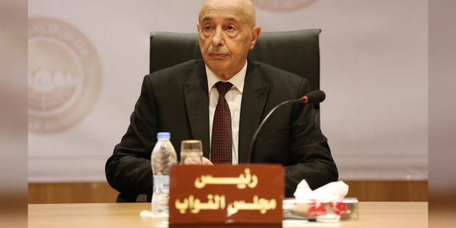 فخامة رئيس مجلس النواب يرحب بأهمية التواصل المشترك بين ليبيا وواشنطن