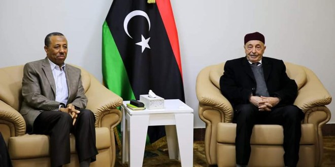 فخامة رئيس مجلس النواب يعقد اجتماعا طارئا برئيس وأعضاء مجلس وزراء الحكومة الليبية لبحث تداعيات أزمة وباء كورونا