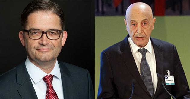 فخامة رئيس مجلس النواب يتلقى اتصالا هاتفيا من السفير الألماني لدى ليبيا