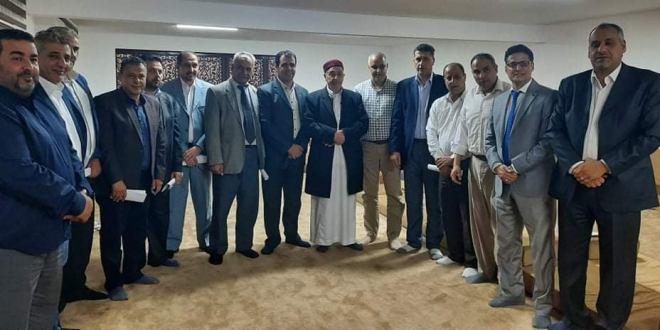 فخامة رئيس مجلس النواب يلتقي مجلس جامعة عمر المختار