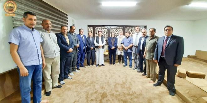 فخامة رئيس مجلس النواب يلتقي أعضاء هيئة التدريس وأساتذة جامعتي عمر المختار و محمد بن علي السنوسي