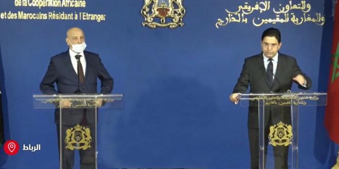 فخامة رئيس مجلس النواب يصل العاصمة المغربية الرباط و يلتقي معالي وزير خارجية المغرب.