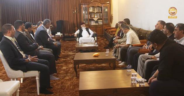 فخامة رئيس مجلس النواب يلتقى عدد من أعضاء الهيئات القضائية