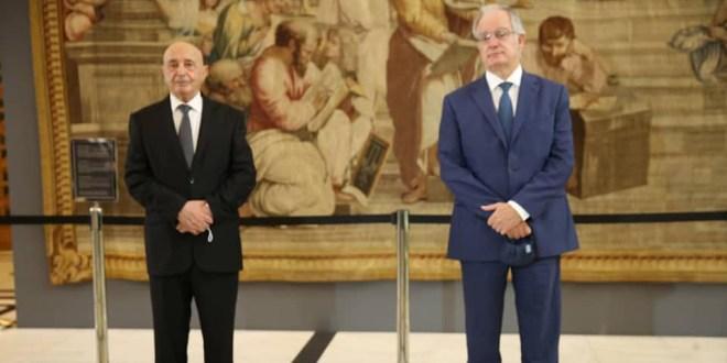 فخامة رئيس مجلس النواب والوفد المرافق له يلتقي نظيره اليوناني ووزير خارجية اليونان