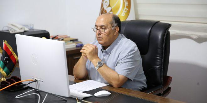 معالي رئيس ديوان مجلس النواب يعقد اجتماعاً مع رئيس بعثة الاتحاد الأوروبي لدى ليبيا وعدد من خبراء برنامج انتر بارس