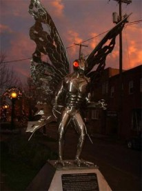 mothman statue built/created by Bob Roach