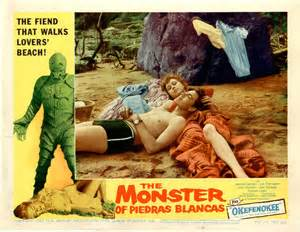 the monster from Piedras blanca poster