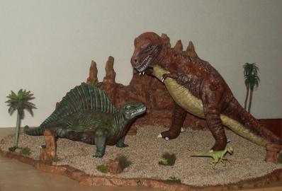 T Rex Dimetrodon battle pic 3