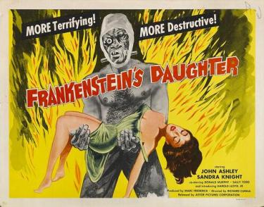 frankensteins daughter poster