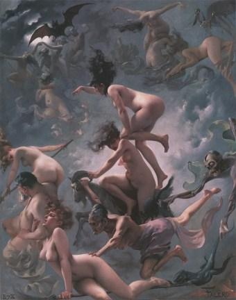 Luis Ricardo Falero - Witches going to their Sabbath (1878)