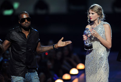 Fill in the blank: Kanye West was ________ during the VMA's.