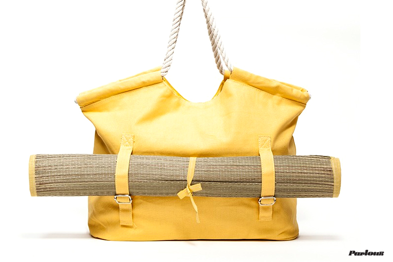 Canvas Beach Tote With Mat | $83 | Need Supply
