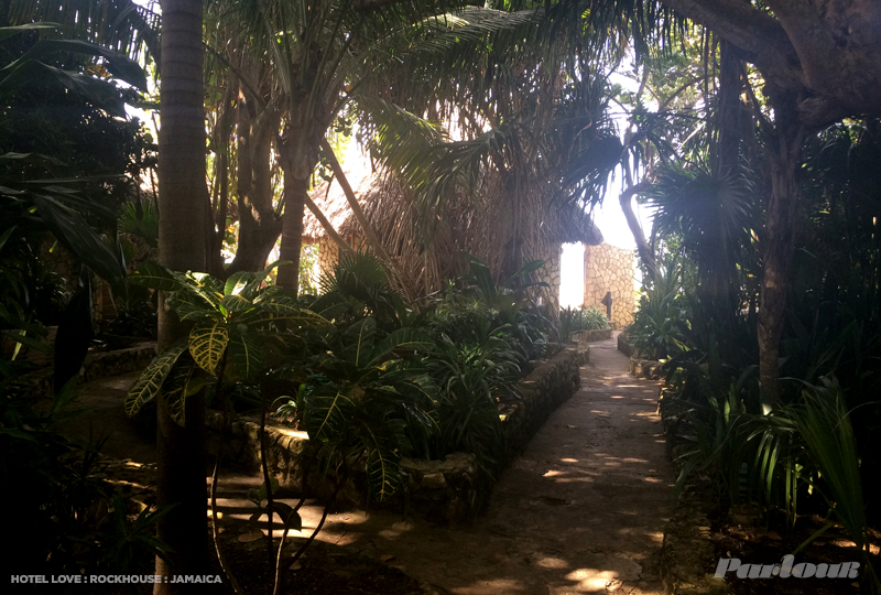 A pathway to one of Rockhouse's famed villas