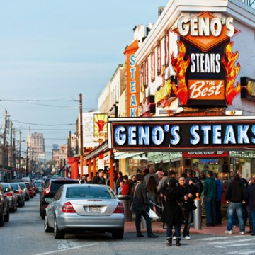 South Philly's legendary Geno's Steaks | Image from VisitPhilly.com