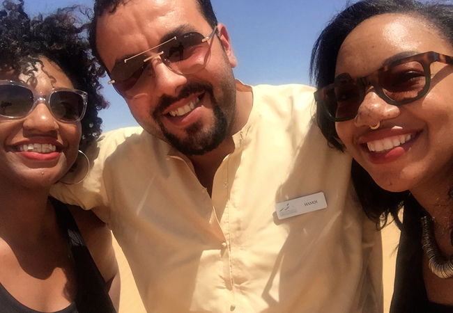 Happy selfies with our guide Hamdi