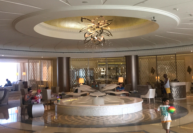 The lobby of the Habtoor Grand