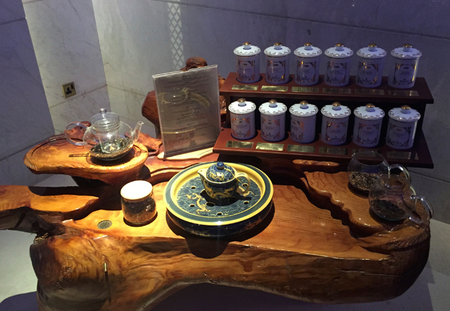 The tea display in the Al Husn for daily high tea