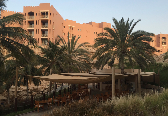 The private beach & cafe of Al Husn