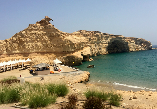 A view from the top of the private beach of the Al Husn