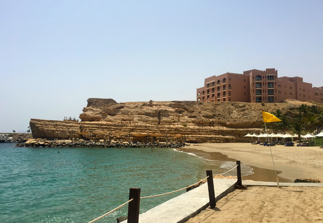 The private beach at the Al Husn