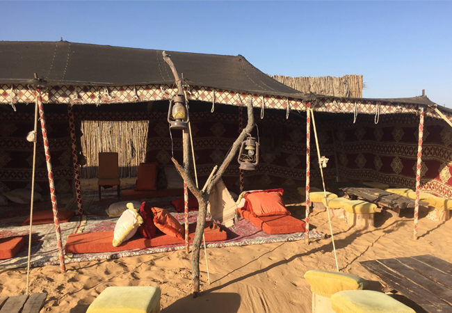 Inside the bedouin camp, the center of most activity