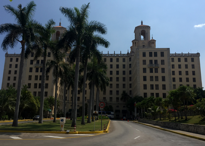A view of the Hotel Nacional