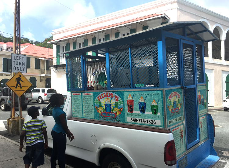 Waiting for a cool treat in Charlotte Amalie