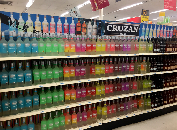 A Parlour Secret: the island's Kmart is the best place to stock up on Cruzan Rum!