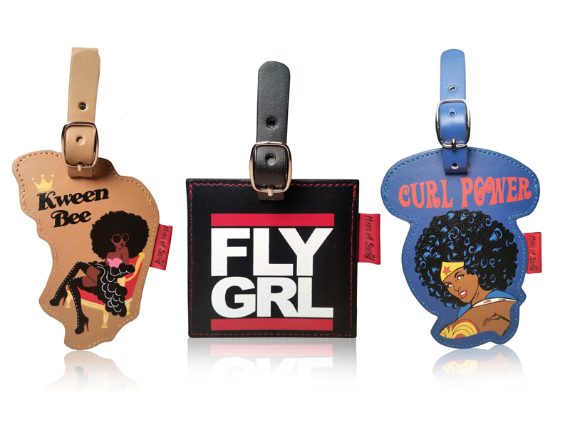Kween Bee, Fly GRL & Curl Power Luggage Tags