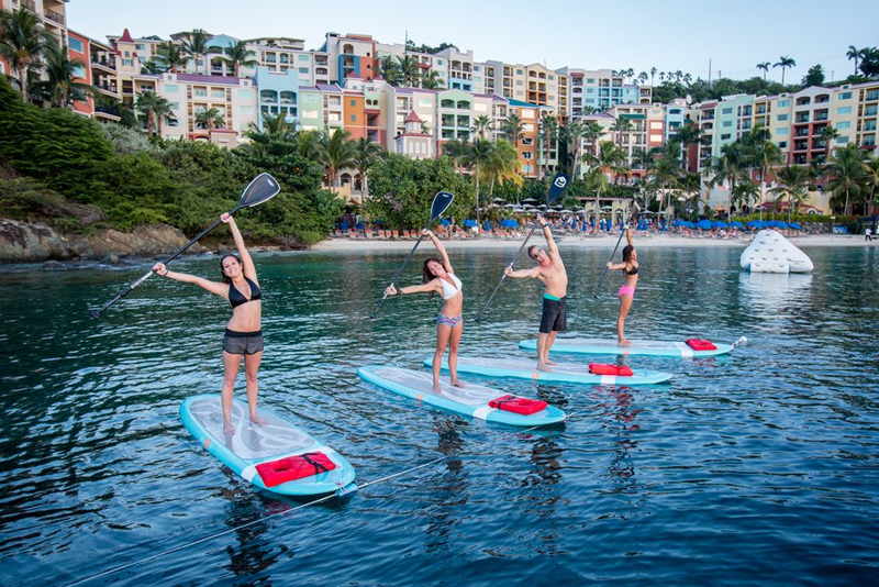 Paddleboard Yoga @ Morning Star Marriott Beach Resort (suggested activity)
