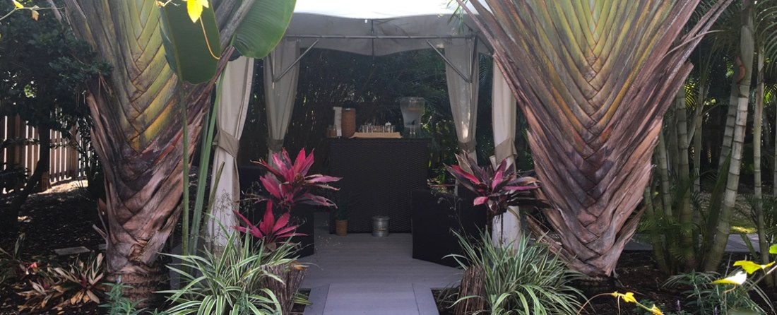 The relaxation garden area at the L'Occitane Spa