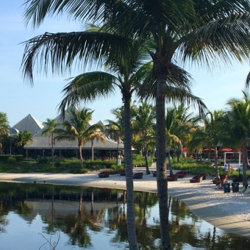 A central view of Club Med Sandpiper Bay, on the shores of St. Lucie River