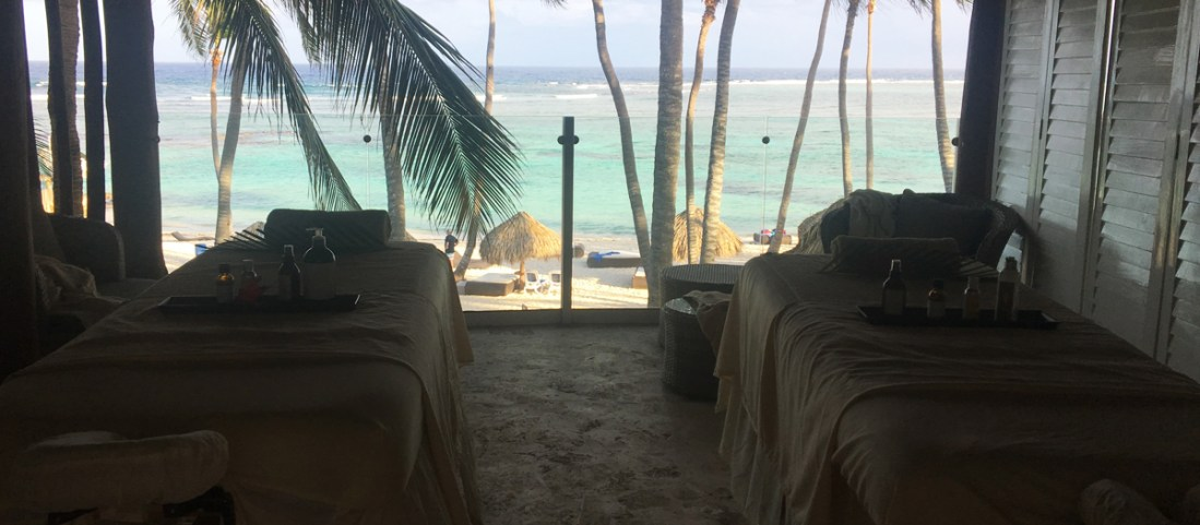 The double massage room and view the L'Ocitane Spa