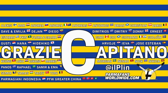 Grazie Capitano by Parma fans worldwide