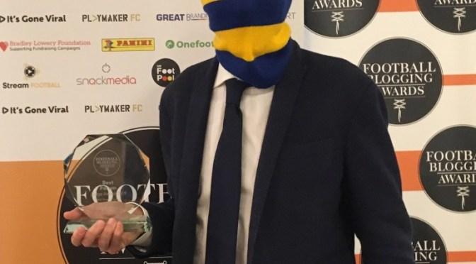 Football Blogging Awards:  Judges Choice Best Forum 得獎感言