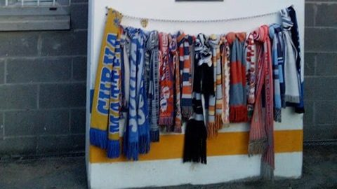 Atalanta fans in Tardini Curva Nord
