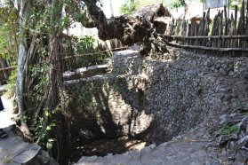 Kolam wudhu yang mengering