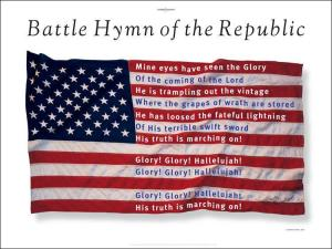 Battle hymn parody flag