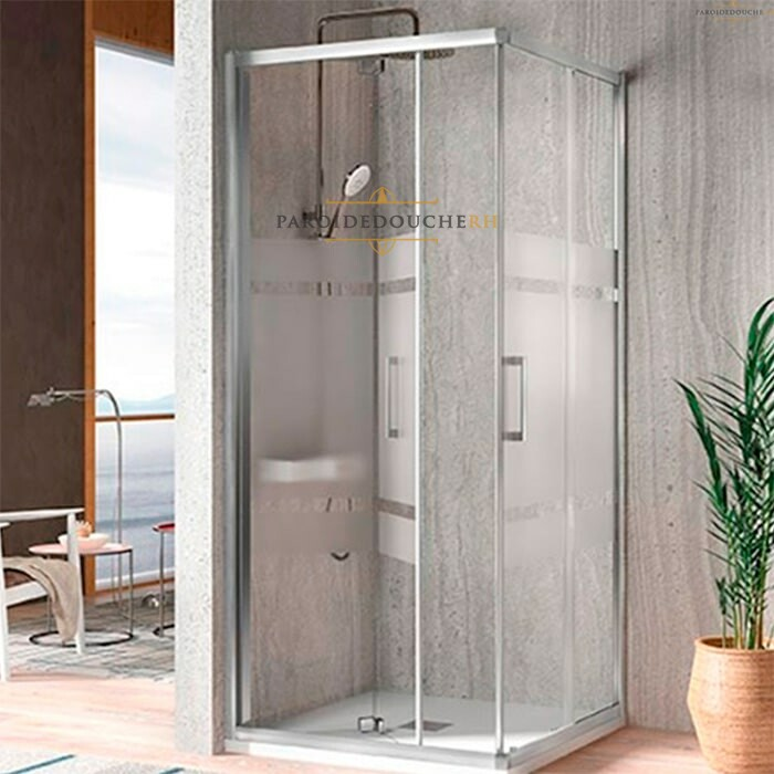paroi de douche angle portes pliantes et coulissantes rh1724