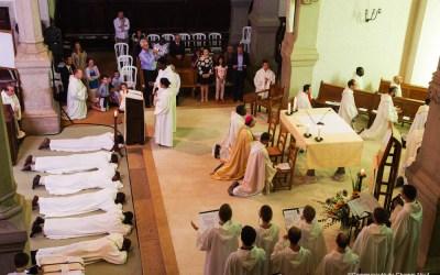 Trois ordinations de diacres