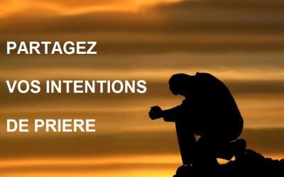Proposez une intention de prière