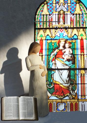 Vierge au Vitrail