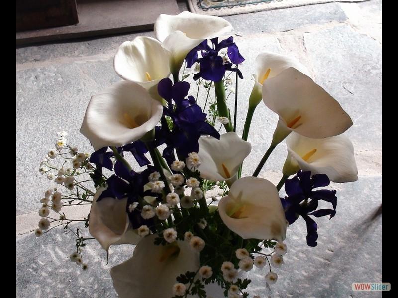 Le pardon de Lokmaria 2017 Bouquet dans la chapelle