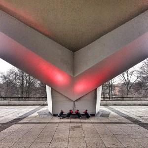 Detail of the congress-hall by Hugh Stubbins in Berlin-Tiergarten