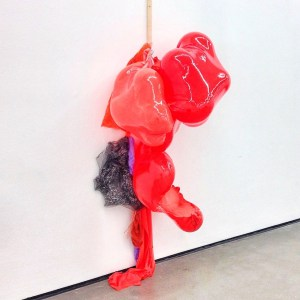 Sculpture from Daiga Grantina's current series of works, the so-called «Buffs», at Kunstverein in Hamburg