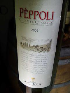 Degustazione: Peppoli 2009 Chianti Classico, Marchesi Antinori
