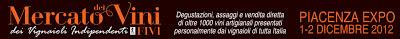 Mercato dei vini dei vignaioli indipendenti 1 e 2 dicembre a Piacenza