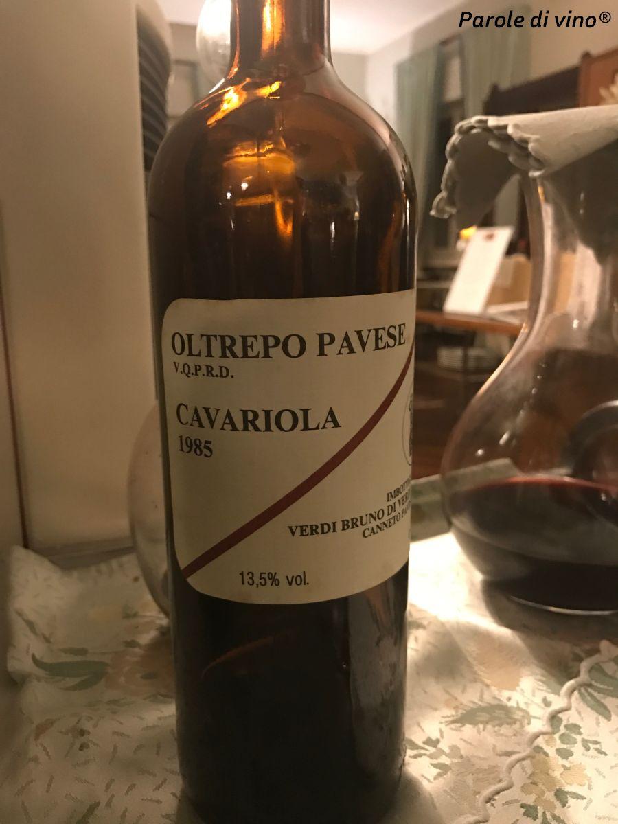 Nuovi miti: Cavariola Bruno Verdi