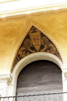 Stemma araldico, dettaglio, quartiere Coppedè