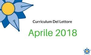 Curriculum Del Lettore, aprile 2018: tra cuore, critica e società